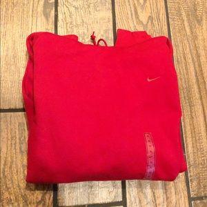 Nike Men's Swoosh Red Hoodie